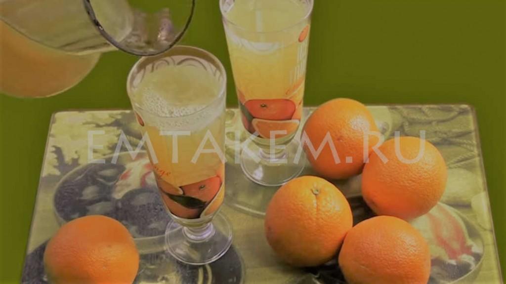 Морс из апельсинов