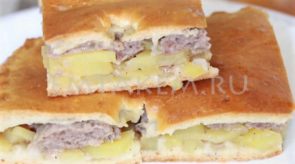 Рецепт пирога с картофелем и мясом