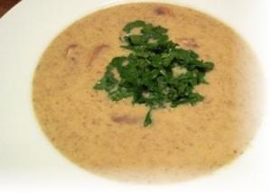 Суп из шампиньонов со сливками