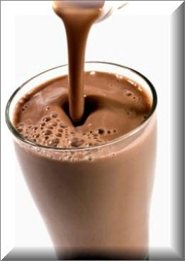 Шоколадный коктейль на молоке