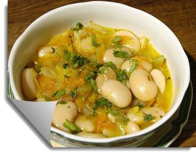 Суп с белой фасоли