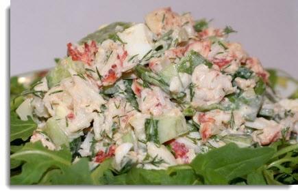 Салат из консервированных крабов