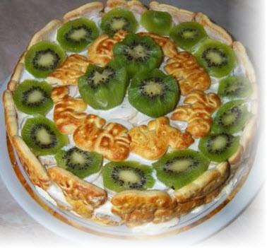 На торт из печенья без выпечки