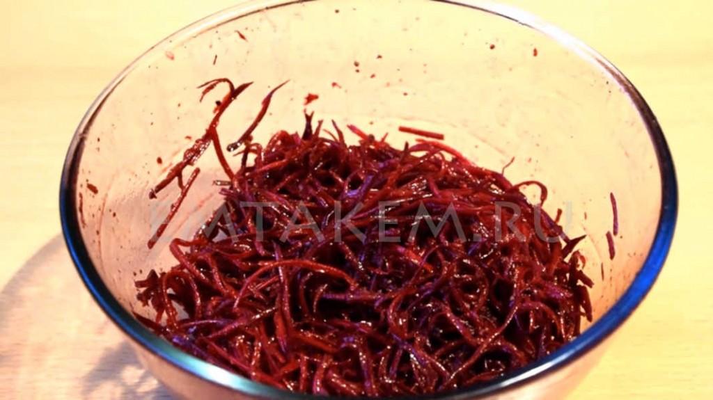 Салат свёкла по-корейски