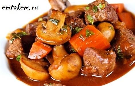 Вкусное рагу с говядиной