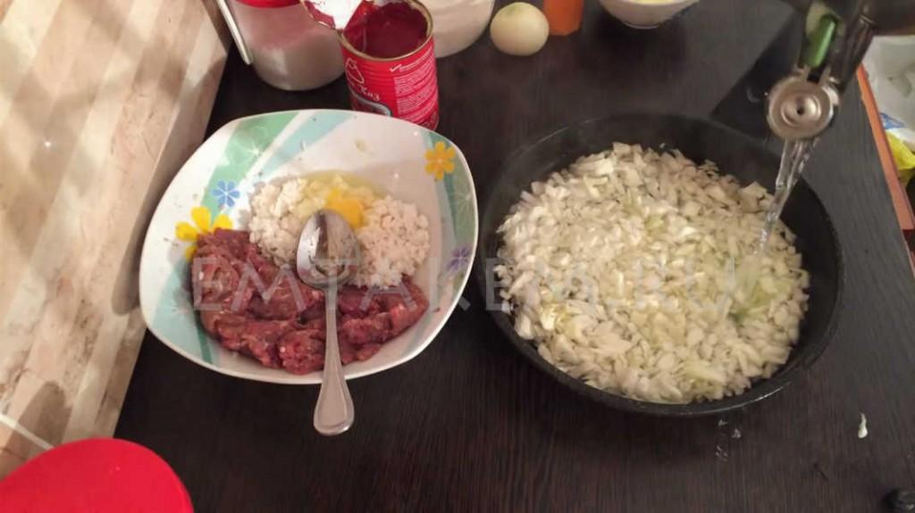 Рецепт ленивых голубцов с капустой