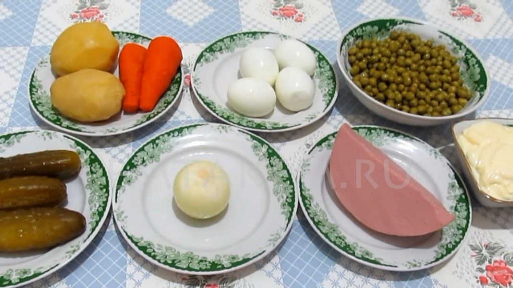 Оливье ингредиенты