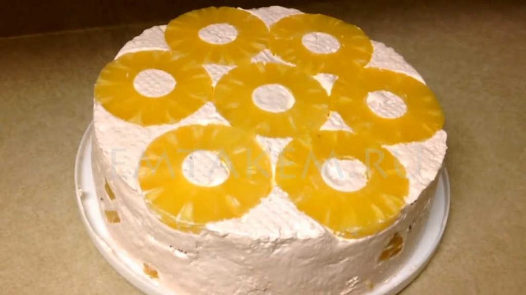 Торт с консервированными ананасами