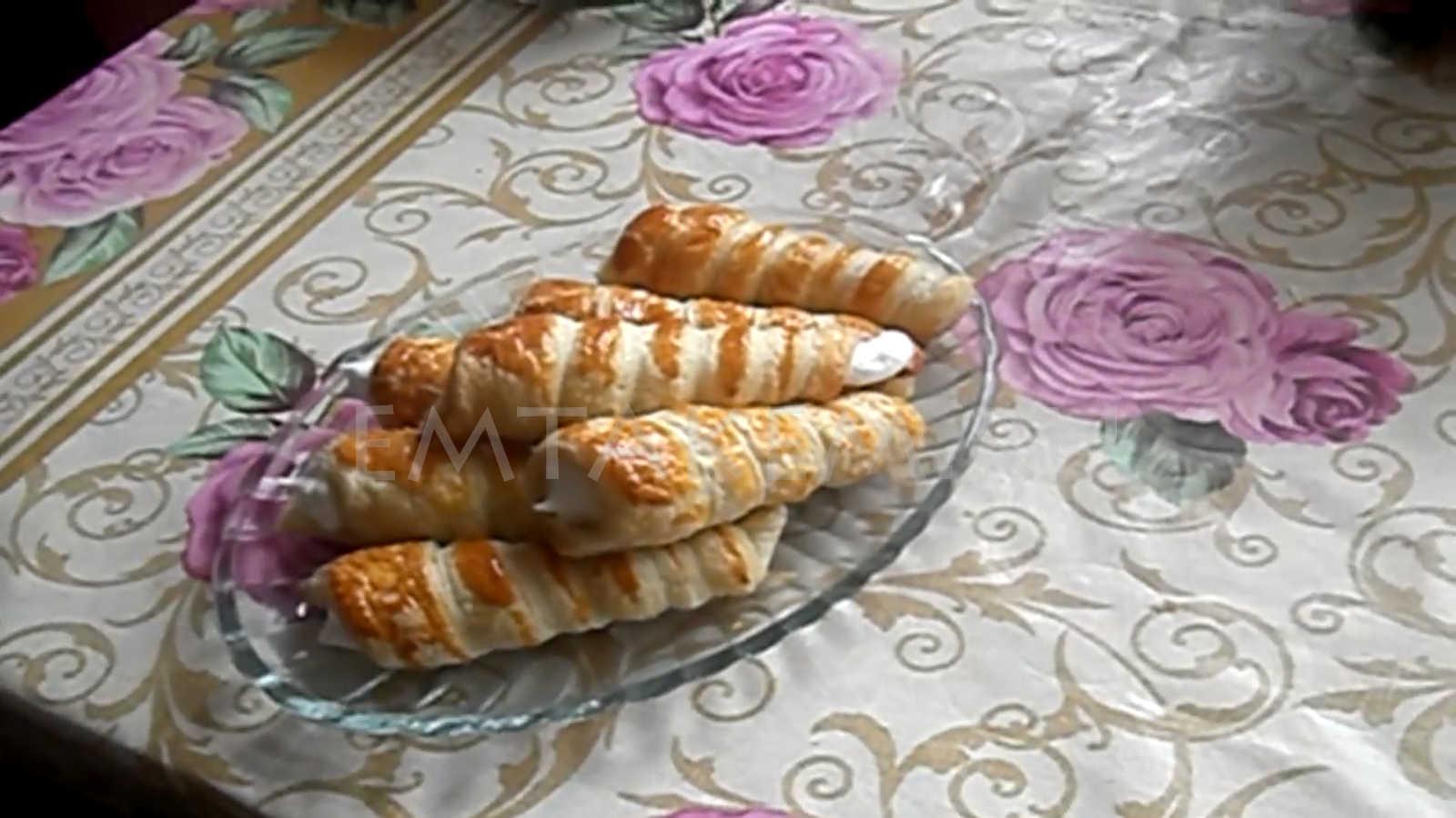 Трубочки с белковым кремом своими руками 50