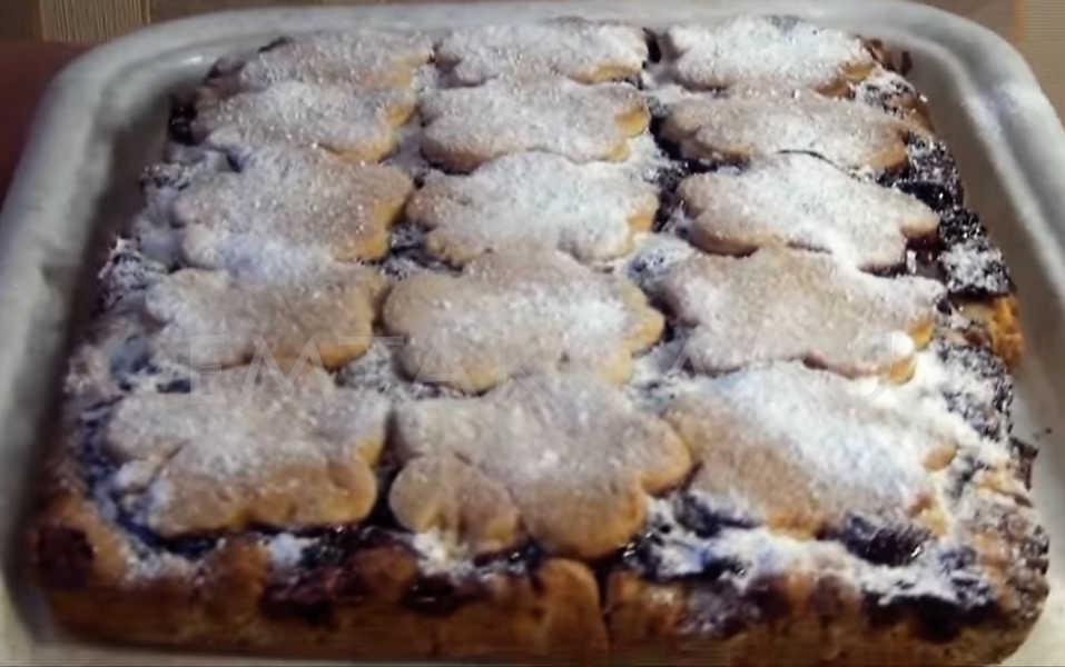 Рецепт пирог с малиной