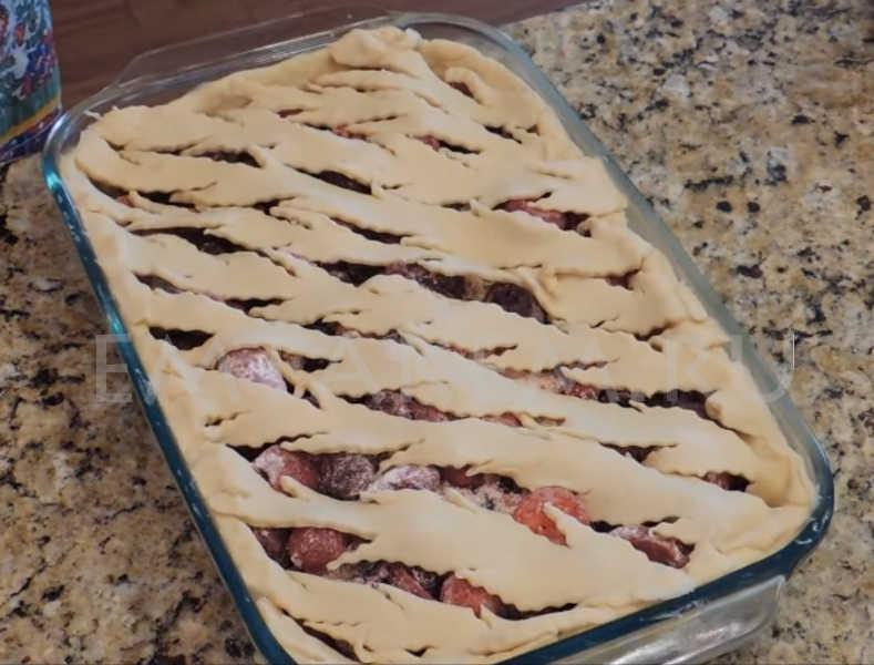 Пирог из малины замороженной